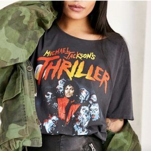 JUNKFOOD Michael Jackson Thriller Gray Tee Top S